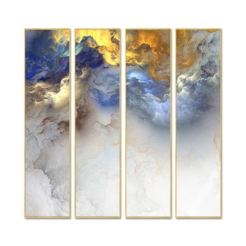 High Quality 3 Panels Abstract Sky Art Canvas Prints