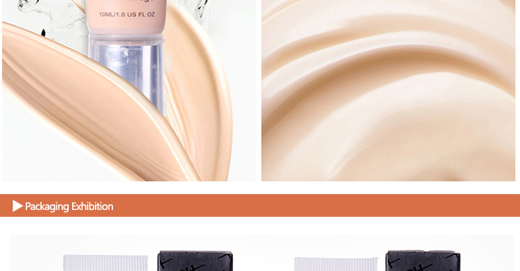 Thin finished mineral ingredient covering & hiding liquid concealer