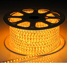 50m/roll AC110V 230V High Voltage SMD 5630 light Power plug 60led/m IP65 14.4W/meter hight bright led strip