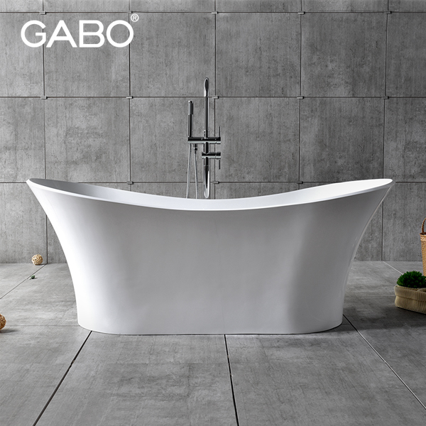 cheap polymarble bathtub freestanding plastic portable bathtub for adult