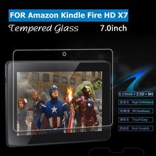 Best price 0.33mm Thickness 9H ultra thin tempered glass screen guard/screen film/screen protector for amazon kindle fire HDX 7