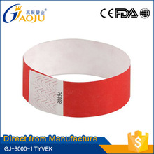 Wholesale professional manufacture disposable party oem cheap customized wristband with personallogo
