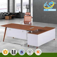 Fashionable Double Sided Office Desk with Drawers MDF Office Desk Organizer
