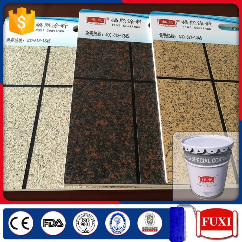 Texture Wall Natual Exterior Stone Colorful Granite Coating Paint