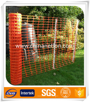 Factory suppy high quality Plastic safety Waring orange barrie fence