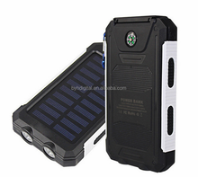 Camping accessories car jump starter portable rechargeable mobile compass solar power bank 10000mah gift