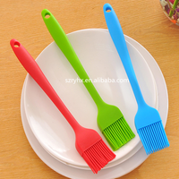 New design colorful food grade silicone brush baking tool with transparent PP handle