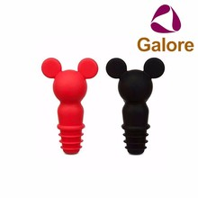 Wholesale Cheap Animal Head Silicone Beer Bottle Stopper Wine Stopper