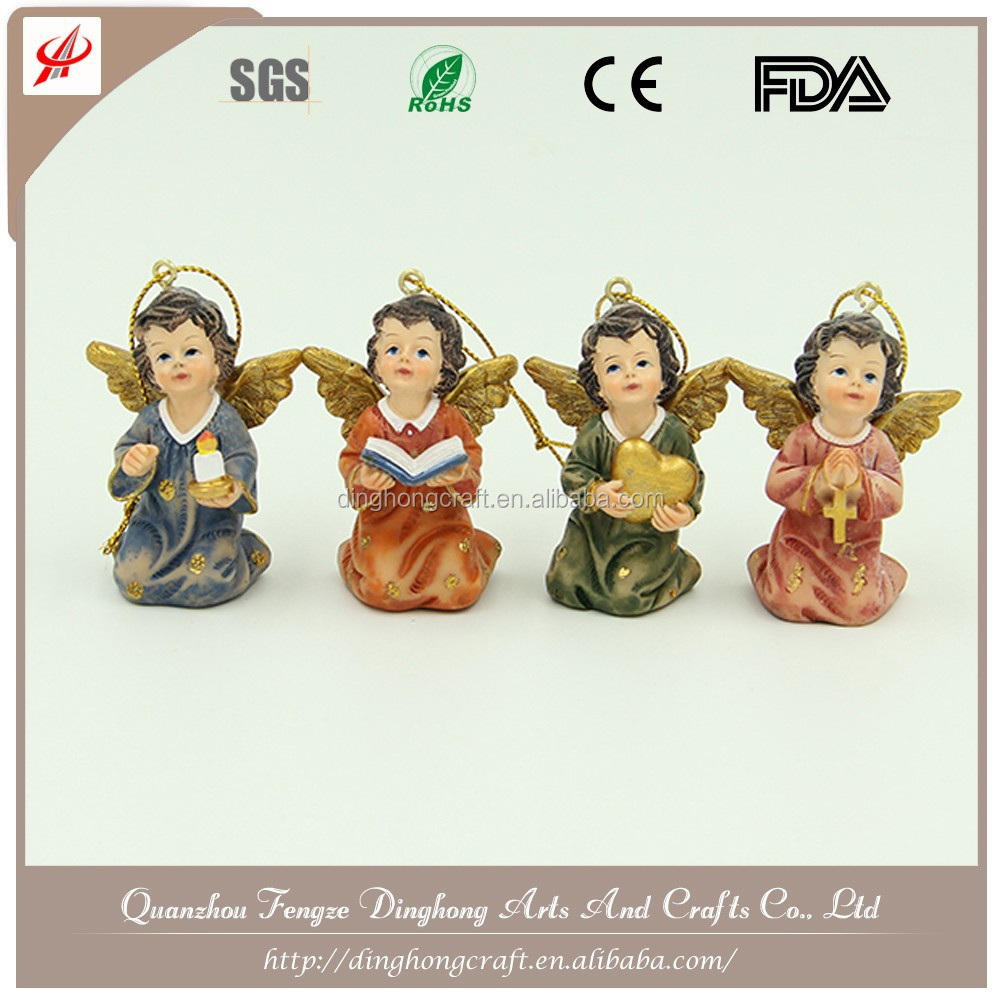 Wholesale Garden Angel,Garden Decoration,Resin Angel Figures Sex White Angel Dress