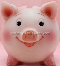 Cute Safe ABS Resin Pink Pig Saving Money Box in 2016 for children