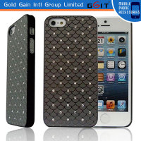 Fashionable Fish Scale Diamond Bumper Case For iPhone 5,PC Diamond Case Cover for iPhone 5