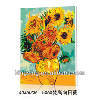 hotsale Diy oil painting by numbers of van gogh sunflower