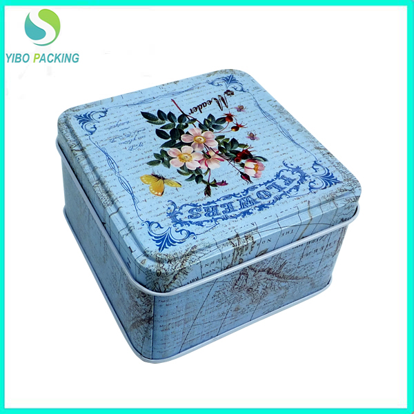 wholesale cheap airtight square tin canister for tea coffee