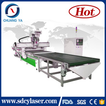 mdf wood Panel furniture production line / wood cnc router CY-1325 for sale