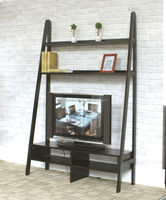 hot sale large wooden tv cabinet with showcase, ladder shelf