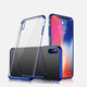 Electroplating soft TPU Phone Case for iPhone XS MAX Clear Transparent Ultra Thin Slim Flexible Back Cover for Apple 6.5 inch