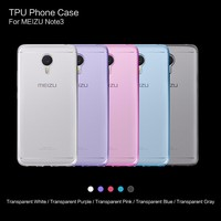 Ultra thin Transparent TPU Mobile Phone Case For MEIZU Note 3