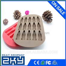 2015 Cheap Custom Good Quality Silicone Cola Ice Cube Tray mold