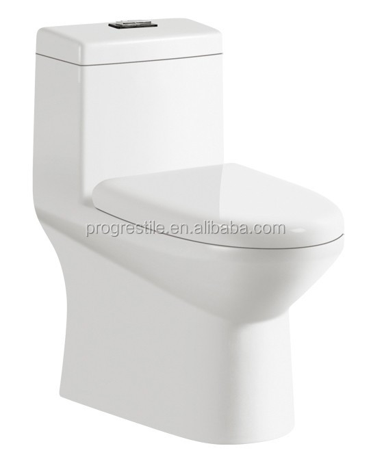 ceramic bathroom one piece toilet dual-flush tornado siphonic toilet with soft-close cover M051