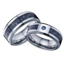 Classic designs handcrafted 316L stainless steel wedding rings carbon