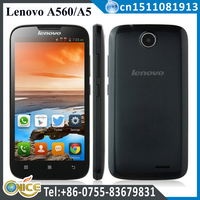 Hottest Lenovo Quad Core Android phone Lenovo A560 A5 5inch Android 4.3 Qual-Comm 512M RAM 4GB ROM dual wcdma phone