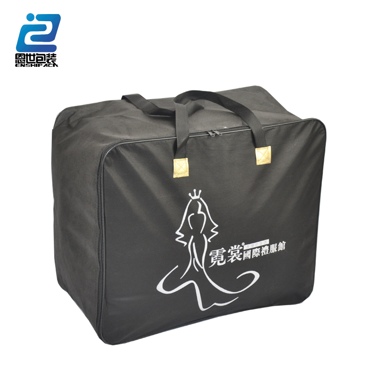 Foldable zipper tote bag clear pvc bag pillow packaging bag made in Hebei