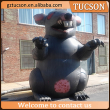 Advertising giant black inflatable rat/ inflatable rat model balloon for sale