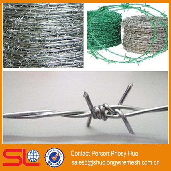 Factory supply hot-dipped galvanized barbed wire mesh fence
