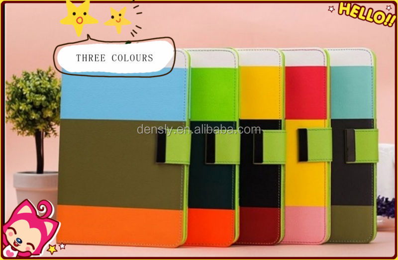 The new arrival products three colors wallet case for apple ipad mini case