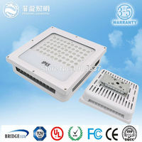 Factory price list ip65 60w 120w 150w meanwell driver aluminum material led canopy light used for gas station