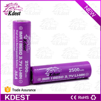 original wholesale aw imr battery 18650 2500 led kdest battery 18650