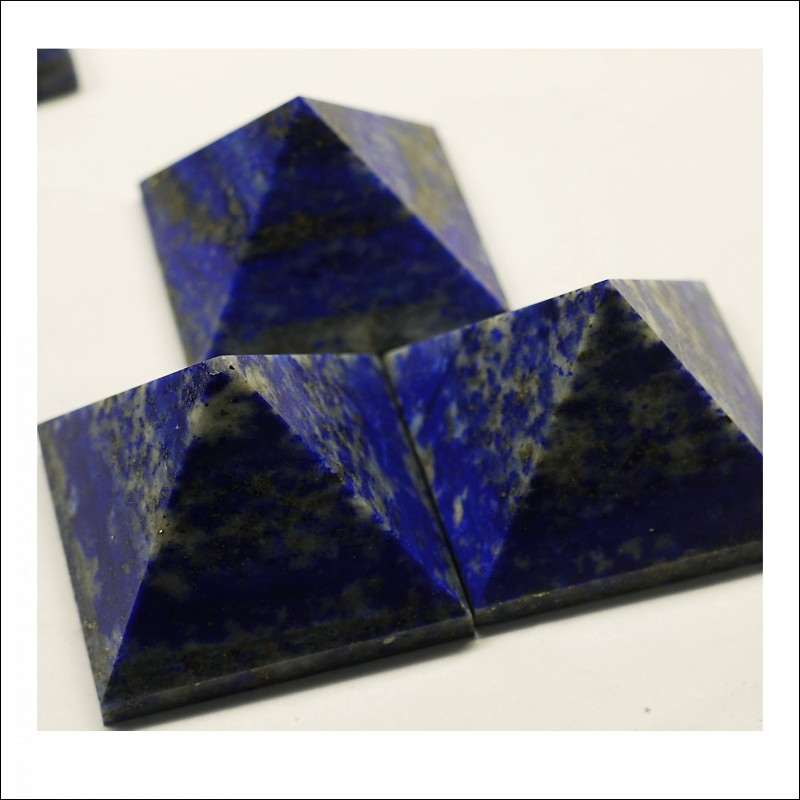 Natural Fused Quartz Crystal Reiki orgone pyramid