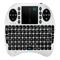2015 hot sell Portable mini keyboard Rii Mini i8 Wireless 2.4G Keyboard with Touchpad for M8S MXQ MXIII TV BOX Mini PC