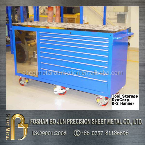 China supplier custom aluminum tool box with wheels