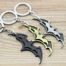 New Arrival Super Hero Superhero Marvel Batman Bat Metal Keychain Pendant Key Chain Chaveiro Key Ring
