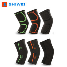 SHIWEI-669# knitting nylon elastic knee sleeve with five colours