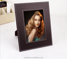 New Style Multi- functional PU Leather Frame Leather Photo Frame Custom