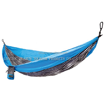 HR 2 person hammock outdoor Double Parachute printing Camping Hammock