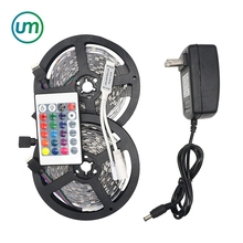 RGB LED Strip 5M 10M KIT SMD 5050 30LED/M Flexible Led Christmas Lights 150 LED Lamp + Remote Controller +Adapter