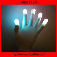 Optical Fiber LED Flashing Gloves Colorful Finger Light Shinning Magic Glove Raver Party Decorations Halloween gloves