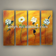 Hot sale modern colorful handmade group painting names of flower
