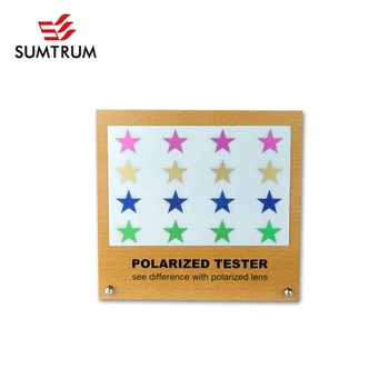 Polarized test picture -RAINBOW TESTER with MDF display for testing Polarized sunglasses