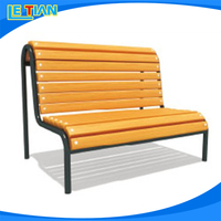 Top quality curved park bench