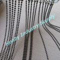 Customized 6mm Gunmetal Coloured Metal Bead Door Chain Curtain