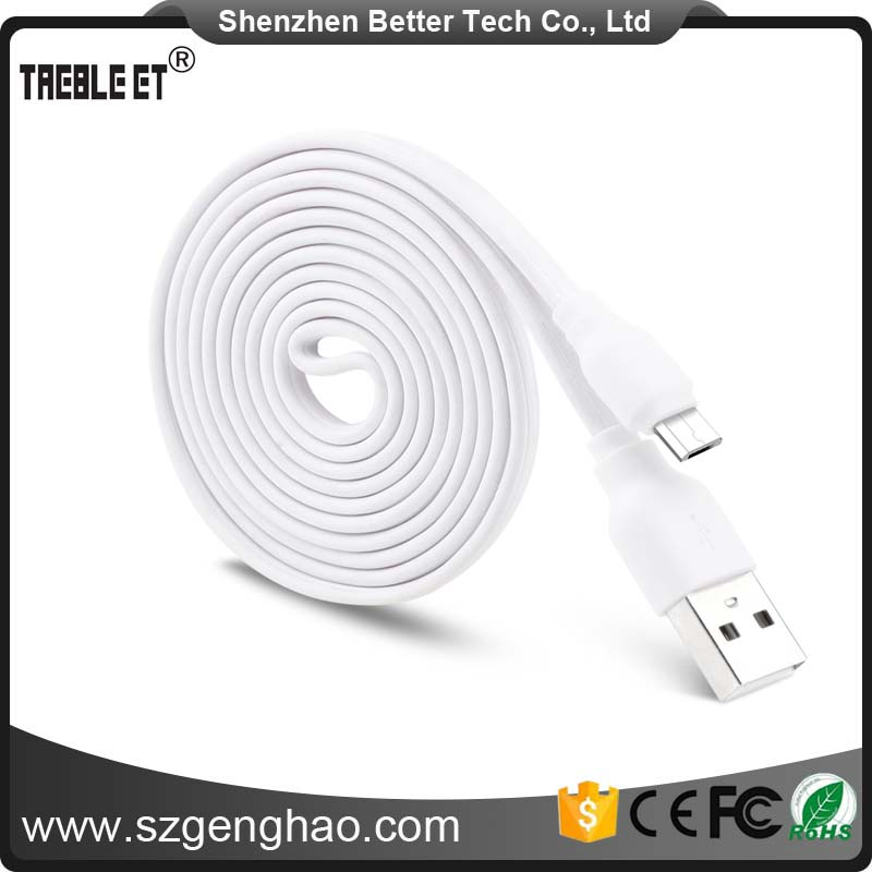 China Made 1m Flat Usb Charging Data Sync Cable For Android Phone