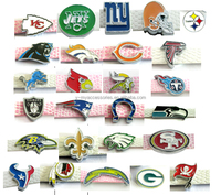 Newest NFL Charms 8mm Slide Charms Custom Made Metal Logo Charms