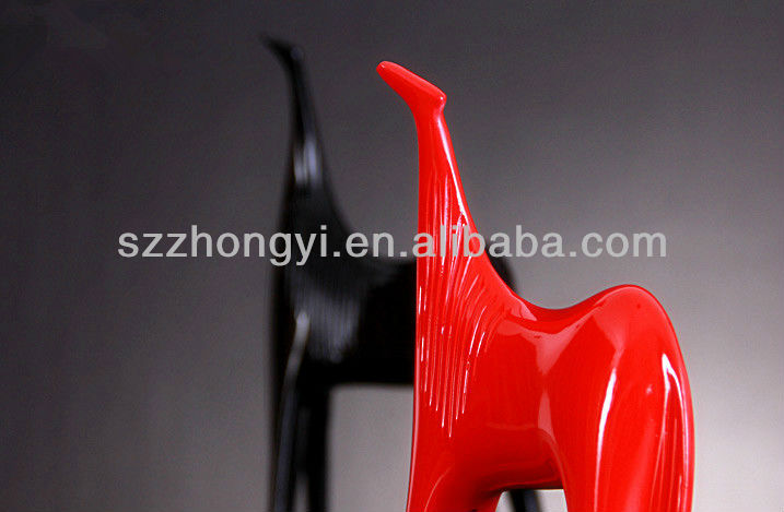 resin abstract horse animal figure table ornament decoration