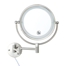 magnifying LED lighted makeup mirrors