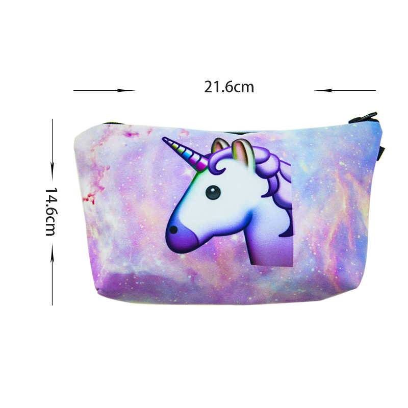 2018 Cute little horse shaped soft cloth customized your own brand makeup brush bag /case