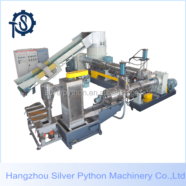 plastic film force feeder/plastic film compactor with cutter